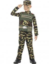 Disfarce militar camuflagem menino