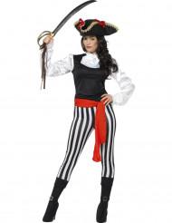 Disfarce pirata listrada - mulher
