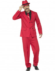 Disfarce gangster vermelho homem