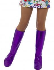 Cobre-botas lilás mulher