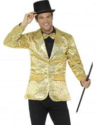 Casaco disco dourado com lantejoulas luxo homem
