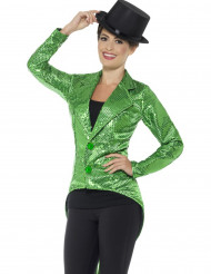 Casaco verde com lantejoulas mulher