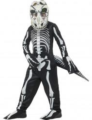 Disfarce tiranossauro esqueleto criança Halloween
