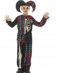 Disfarce esqueleto bobo de rei criança Halloween