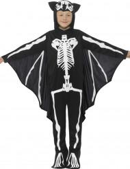 Disfarce esqueleto morcego criança Halloween