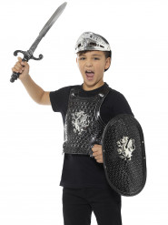 Kit cavaleiro preto luxo criança