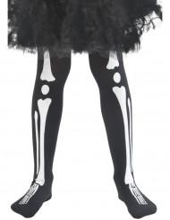 Collants esqueleto criança Halloween