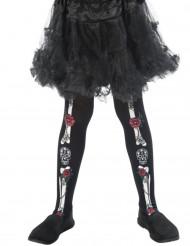 Collants esqueleto criança Dia de los muertos