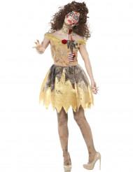 Disfarce conto de fadas dourado zombie mulher Halloween