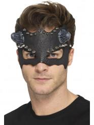 Máscara lobo cravado com pequenos chifres adulto Halloween