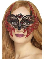 Mascarilha metal morcego mulher Halloween