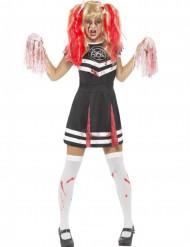 Disfarce pompom girl zombie mulher Halloween