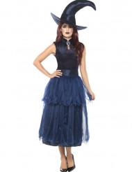 Disfarce bruxa da meia noite mulher Halloween