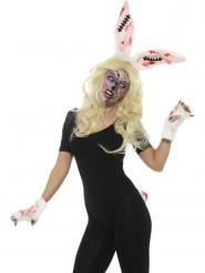 Kit coelho zombie mulher Halloween