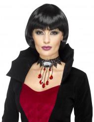 Colar curto vampiro gótico mulher Halloween