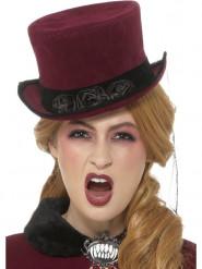 Chapéu vampiro vitoriano mulher Halloween