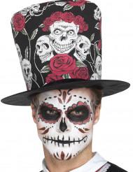 Chapéu alto caveiras Dia de los muertos