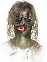 Prótese em mousse látex cara de zombie adulto Halloween