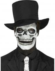 Prótese em mousse látex esqueleto adulto Halloween