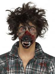 Prótese em mousse látex boca de lobisomem adulto Halloween