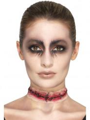 Prótese látex cicatrizes adulto Halloween