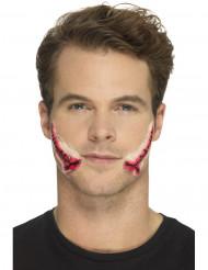 Prótese látex boca suturada adulto Halloween