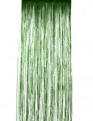 Cortina cintilante verde