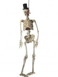 Decoração para pendurar animada esqueleto noivo luxo Halloween