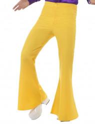Calças disco amarelas homem