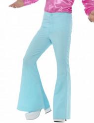 Calças disco azul turquesa homem