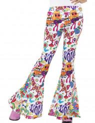 Calças hippie anos 60 mulher