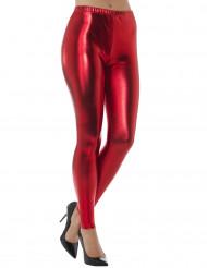 Legging metalisado vermelho adulto