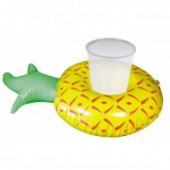 Porta-copos insufláveis ananás 18 cm