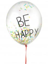 3 balões coloridos em látex Be Happy 45 cm