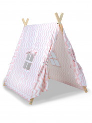 Tenda canadiana cor-de-rosa criança