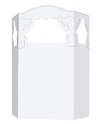 Mini teatro personalizável criança cartão 135 x 100 cm