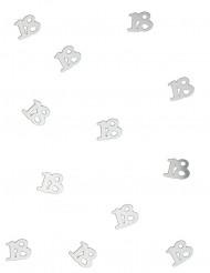 Confetis de mesa 18 anos prateados