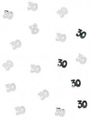 Confetis de mesa 30 anos prateados