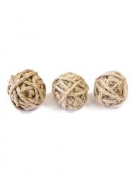 6 Pequenas bolas de corda 3 cm