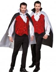 Capa reversível preta e branca adulto Halloween