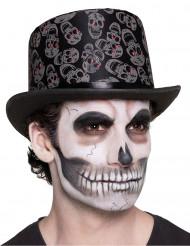 Chapéu caveira adulto Dia de los muertos