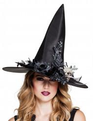 Chapéu de bruxa caveira Halloween