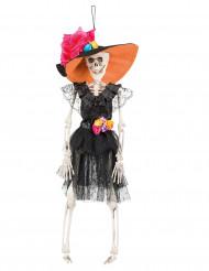 Decoração a suspender noiva mexicana 40 cm Dia dos Mortos