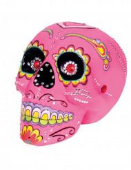 Decoração caveira cor-de-rosa 20 x 14 cm Dia dos Mortos