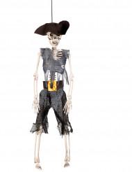 Decoração para pendurar esqueleto pirata 40 cm