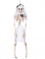 Decoração para pendurar noiva esqueleto Halloween