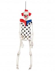 Decoração para pendurar esqueleto palhaço Halloween