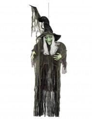 Decoração para pendurar bruxa Halloween