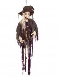 Decoração bruxa animadae sonora Halloween