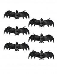 6 Decorações morcegos Halloween